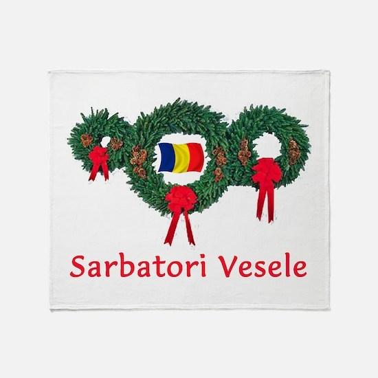 Romania Christmas 2 Throw Blanket