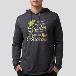 I Just Want To Work In My Garden Mens Hooded Shirt