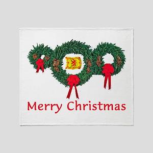 Scotland Christmas 2 Throw Blanket