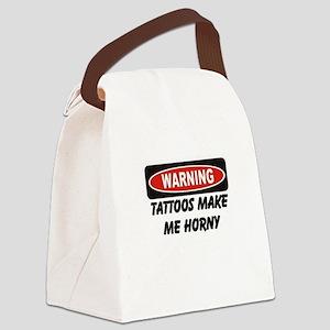 Warning Tattoos Canvas Lunch Bag