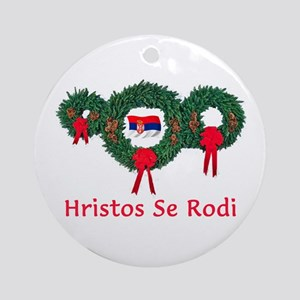 Serbia Christmas 2 Ornament (Round)