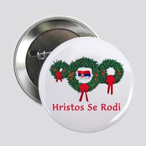 "Serbia Christmas 2 2.25"" Button"