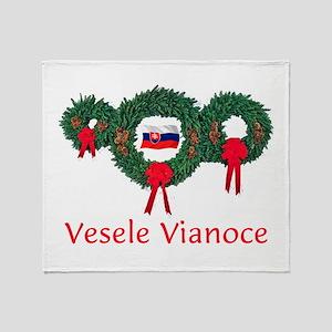 Slovak Christmas 2 Throw Blanket