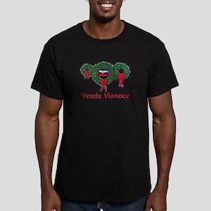 Slovak Christmas 2 Men's Fitted T-Shirt (dark)
