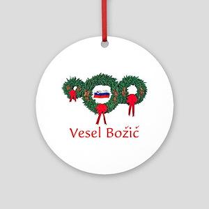 Slovenia Christmas 2 Ornament (Round)