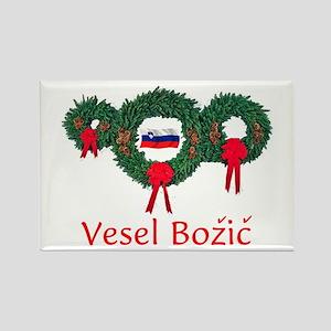 Slovenia Christmas 2 Rectangle Magnet