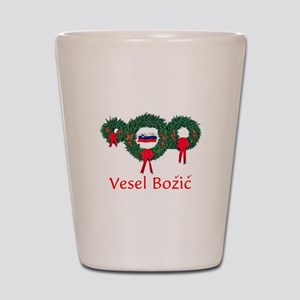 Slovenia Christmas 2 Shot Glass