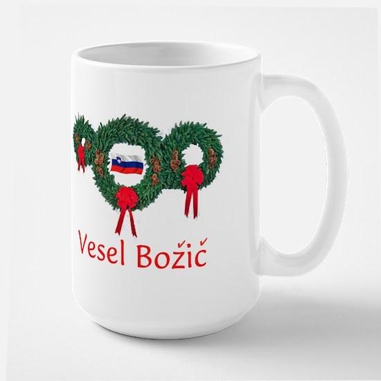 Slovenia Christmas 2 Large Mug