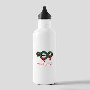 Slovenia Christmas 2 Stainless Water Bottle 1.0L