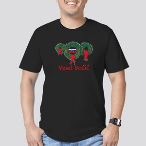 Slovenia Christmas 2 Men's Fitted T-Shirt (dark)