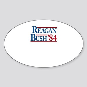 ReaganBush84 Sticker (Oval)
