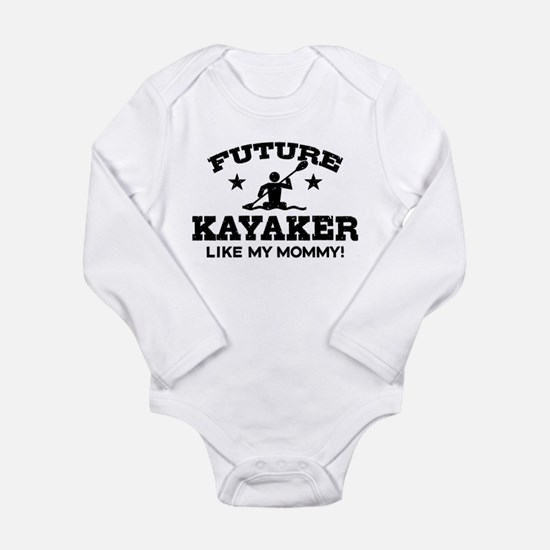 Future kayaker Like My Mommy Long Sleeve Infant Bo