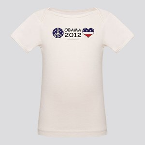 peace obama love Organic Baby T-Shirt