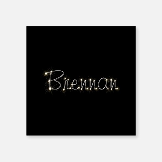 "Brennan Spark Square Sticker 3"" x 3"""