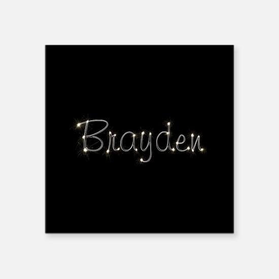 """Brayden Spark Square Sticker 3"""" x 3"""""""