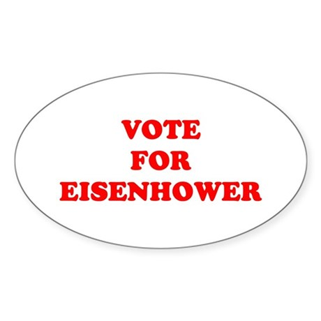 Vote For Eisenhower Oval Sticker