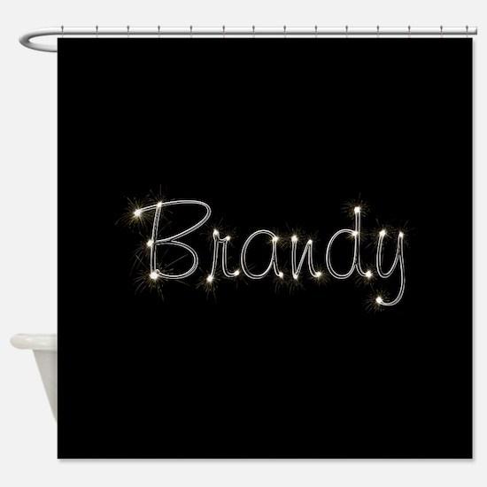 Brandy Spark Shower Curtain