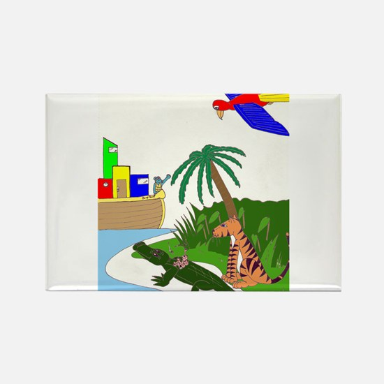 Cool Childrens lit Rectangle Magnet