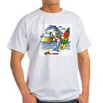Dolphin Beach Ash Grey T-Shirt