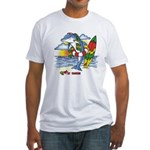 Dolphin Beach Fitted T-Shirt
