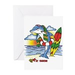 Dolphin Beach Greeting Cards (Pk of 10)