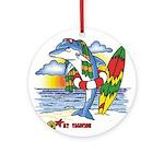 Dolphin Beach Ornament (Round)