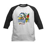 Dolphin Beach Kids Baseball Jersey
