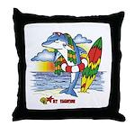Dolphin Beach Throw Pillow