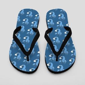 Slate Blue Lobster Buddy Designer Flip Flops