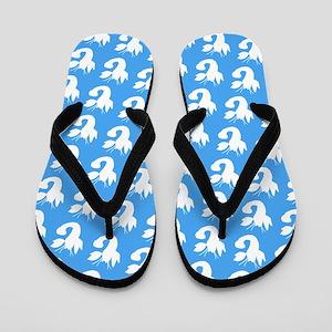 Light Blue Lobster Silhouettes Designer Flip Flops