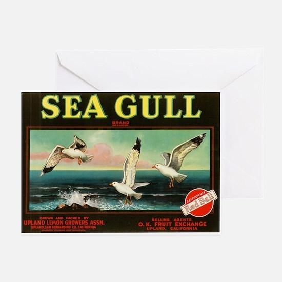 Sea Gull Vintage Art Greeting Cards (Pk of 10)
