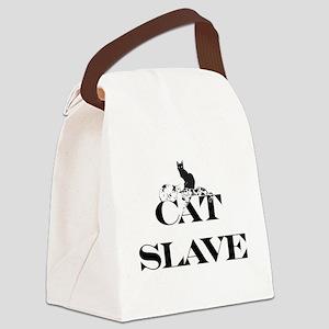 Cat Slave Canvas Lunch Bag