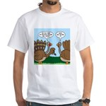 Turkey Peacock Disguise White T-Shirt