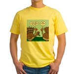 Turkey Peacock Disguise Yellow T-Shirt