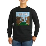 Turkey Peacock Disguise Long Sleeve Dark T-Shirt