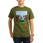 Turkey Peacock Disguise Organic Men's T-Shirt (dar