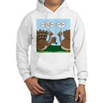 Turkey Peacock Disguise Hooded Sweatshirt