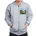 Turkey Peacock Disguise Zip Hoodie