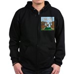 Turkey Peacock Disguise Zip Hoodie (dark)
