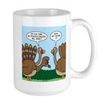 Turkey Peacock Disguise Large Mug