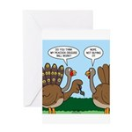 Turkey Peacock Disguise Greeting Card