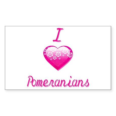 I Love/Heart Pomeranians Sticker (Rectangle)