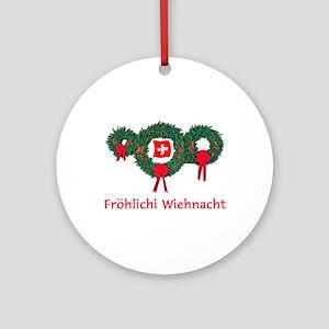 Swiss Christmas 2 Ornament (Round)