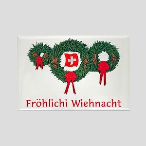 Swiss Christmas 2 Rectangle Magnet