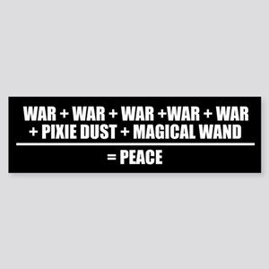 FORMULA FOR PEACE Bumper Sticker