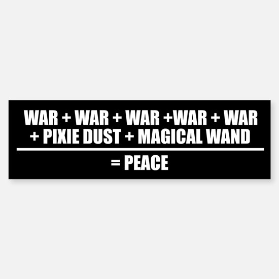 FORMULA FOR PEACE Bumper Bumper Bumper Sticker