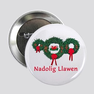 "Wales Christmas 2 2.25"" Button"