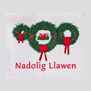 Wales Christmas 2 Throw Blanket