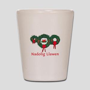 Wales Christmas 2 Shot Glass