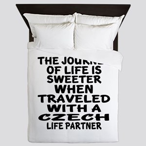 Traveled With Czech Life Partner Queen Duvet